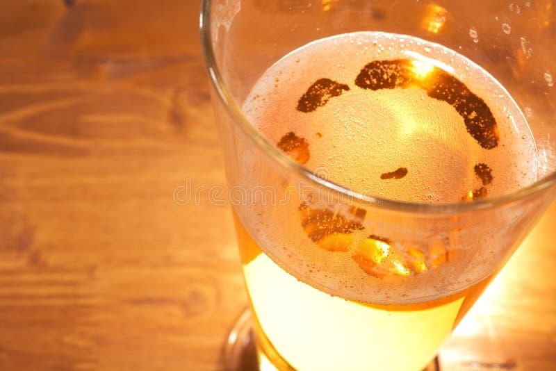 Het glas van het bier stock afbeelding