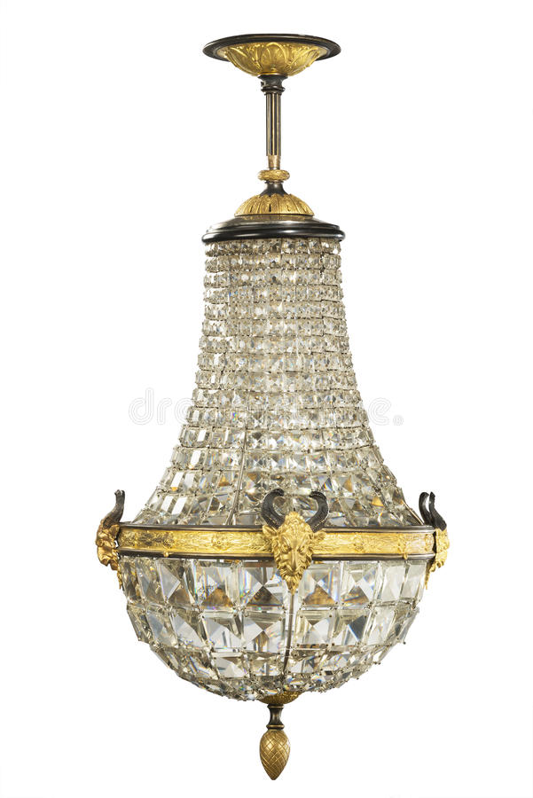 Het glas van het kroonluchterkristal royalty-vrije stock foto