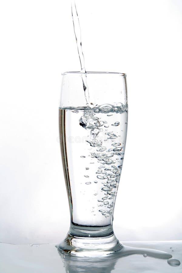 Het glas van het water royalty-vrije stock afbeeldingen