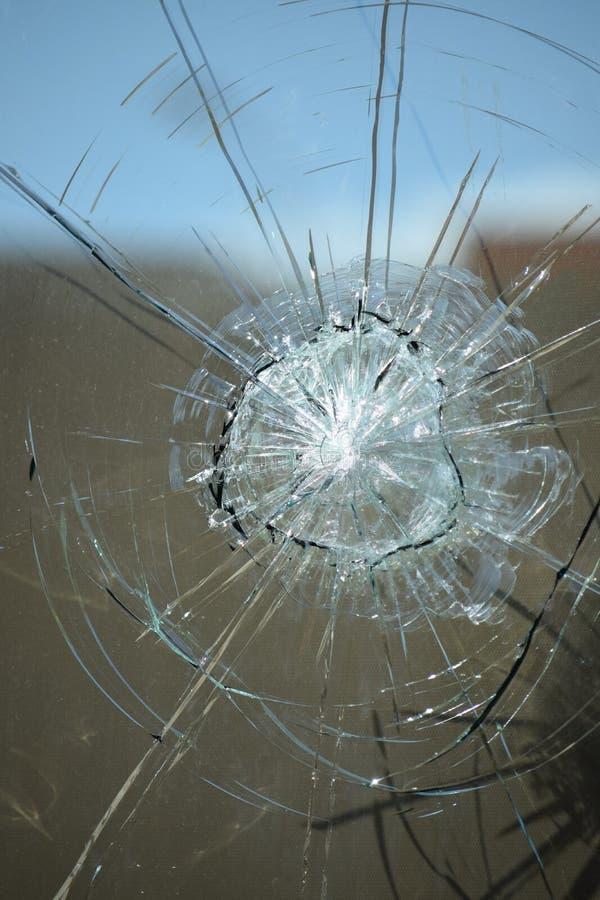 Het glas van het kogelgat stock afbeeldingen