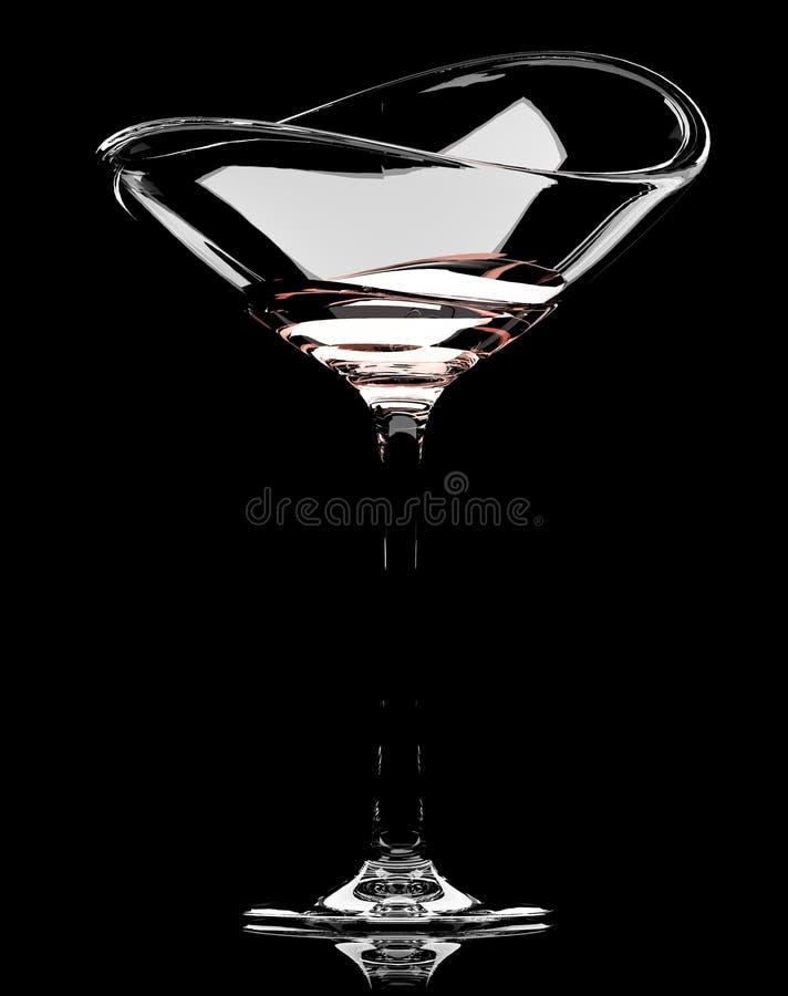 Het glas van martini stock fotografie