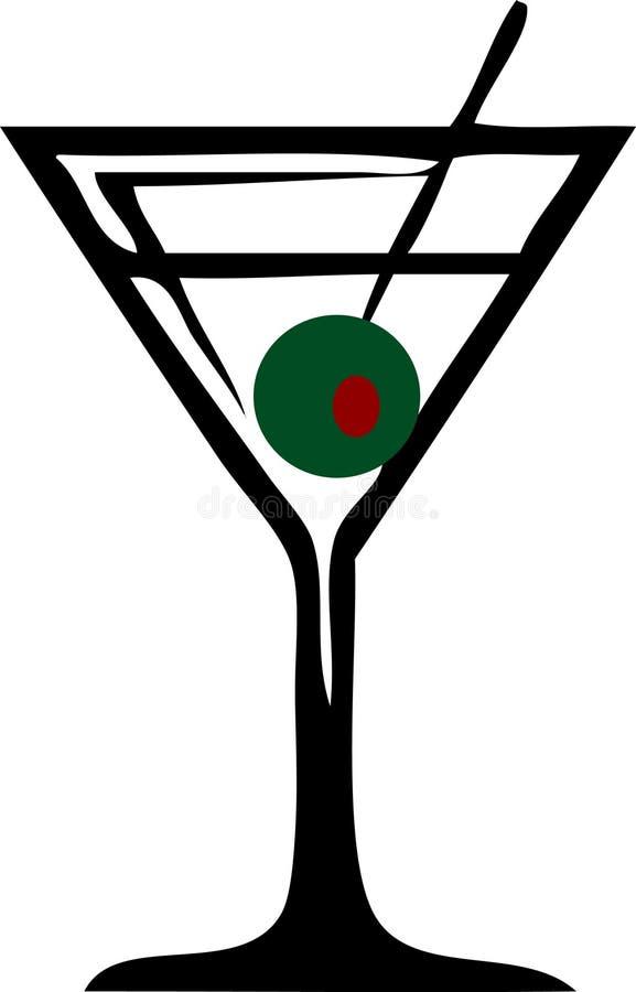 Het Glas van martini royalty-vrije illustratie
