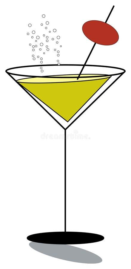 Het glas van martini stock illustratie