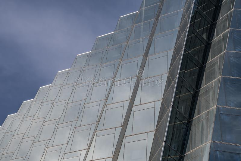 Het glas van Stepesvormen royalty-vrije stock afbeelding