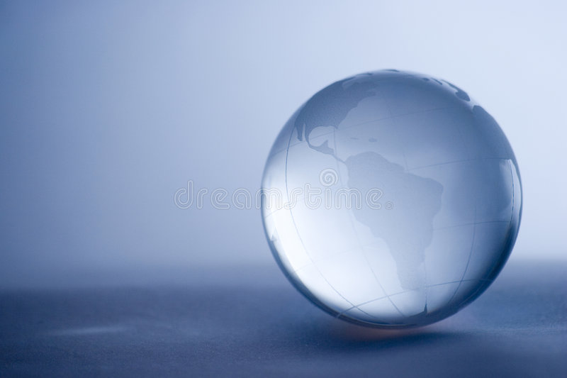 Het glasbol van het kristal stock foto's