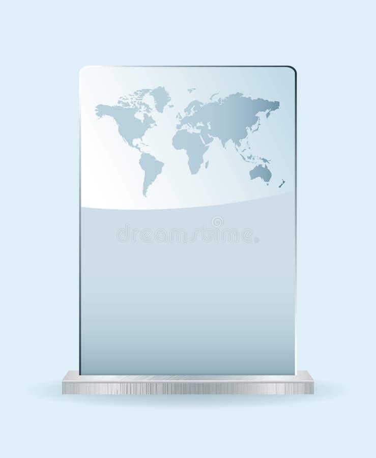 Het glastoekenning van de wereld royalty-vrije illustratie