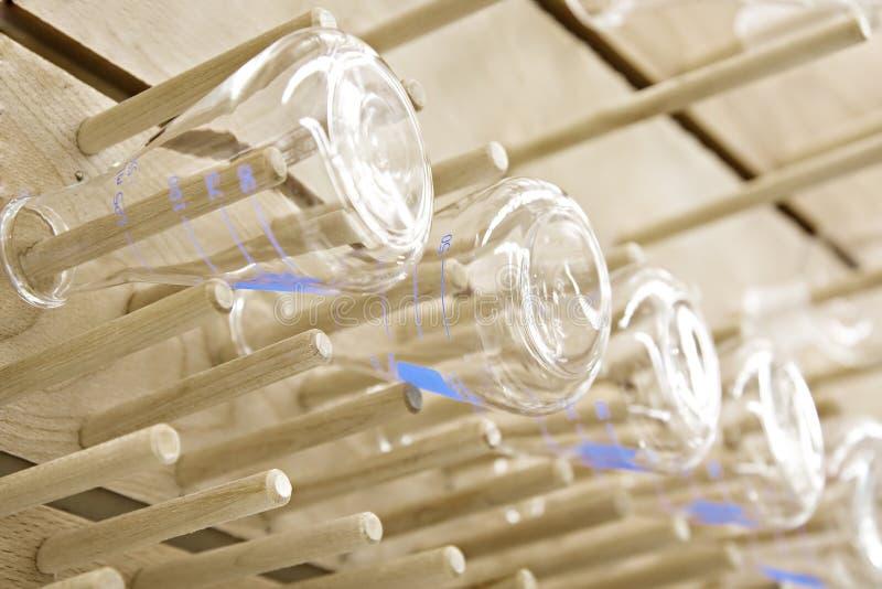Het glaswerk van de chemie stock fotografie