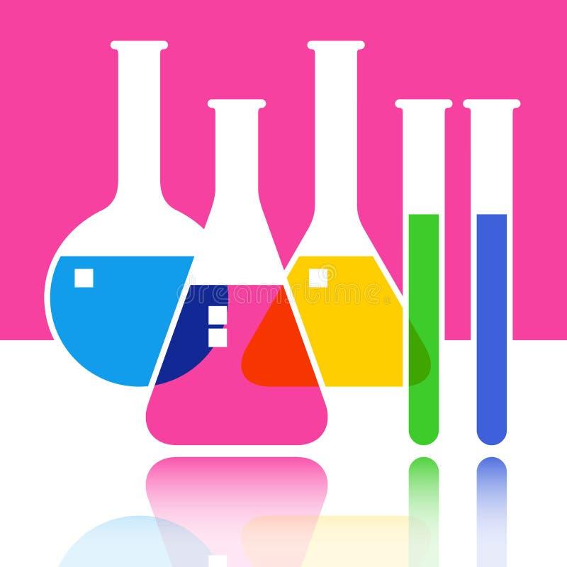Het glaswerk van het laboratorium stock illustratie