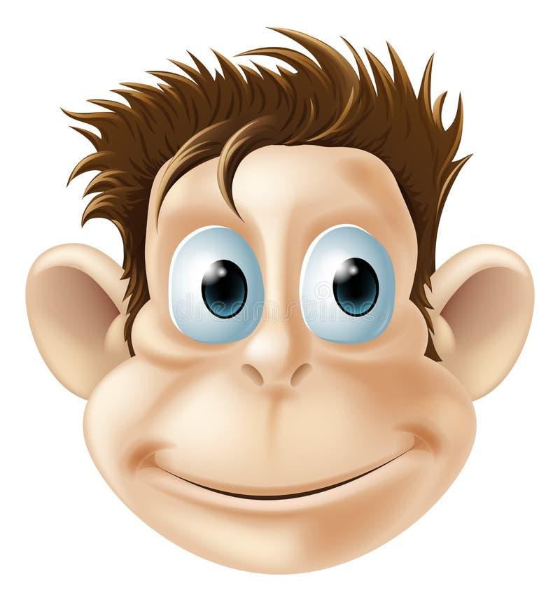 Het glimlachen aapillustratie stock illustratie