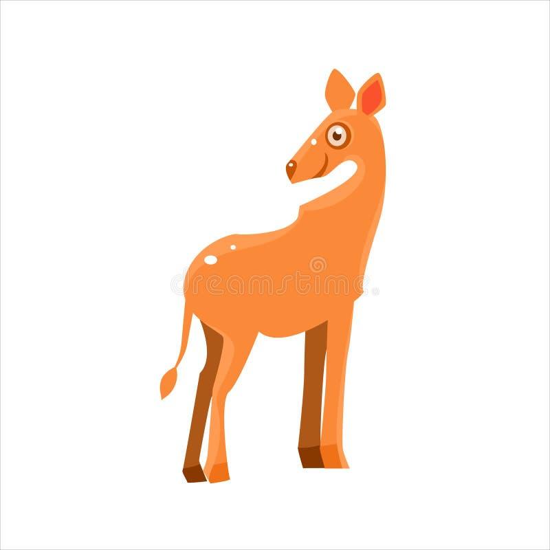Het glimlachen Antilope Vlakke Vectorillustratie royalty-vrije illustratie