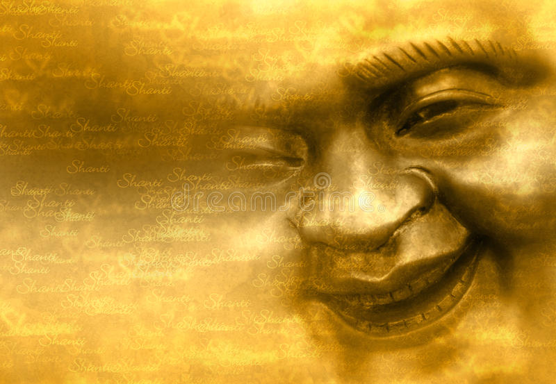 Het glimlachen gezicht van Boedha royalty-vrije stock foto