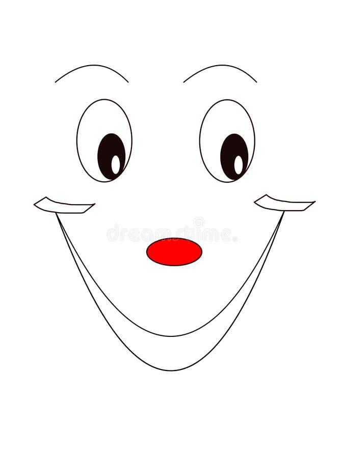 Het glimlachen gezichtsuitdrukking stock foto's