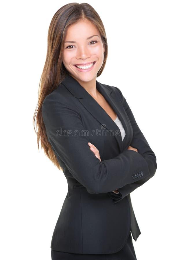 Het glimlachen jong onderneemsterportret stock afbeelding