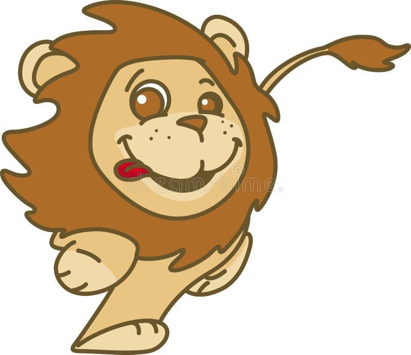 Het glimlachen jonge lionet stock illustratie