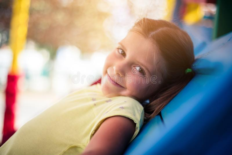 Het glimlachen kinderjaren stock foto's