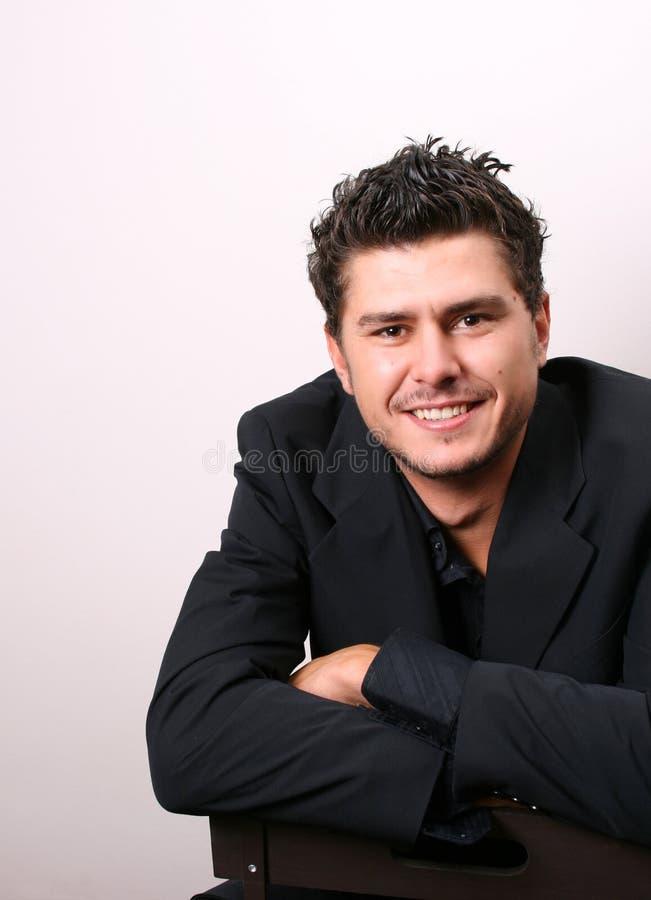 Het glimlachen Mannelijk Model royalty-vrije stock foto's