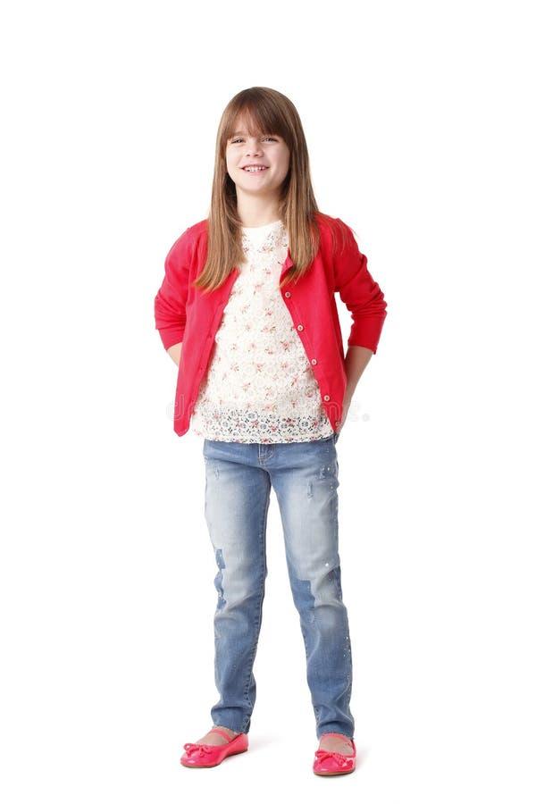 Het glimlachen meisjeportret royalty-vrije stock afbeelding