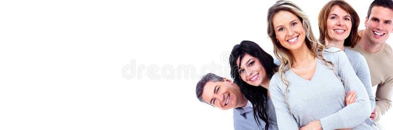 Het glimlachen mensengezichten royalty-vrije stock afbeeldingen
