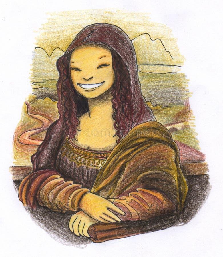 Het glimlachen Mona lisa het schilderen