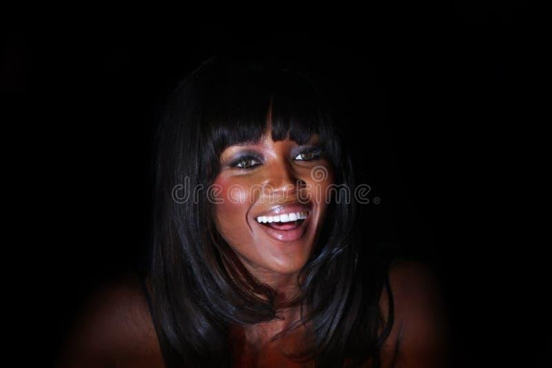 Het glimlachen Naomi Campbell stock afbeelding