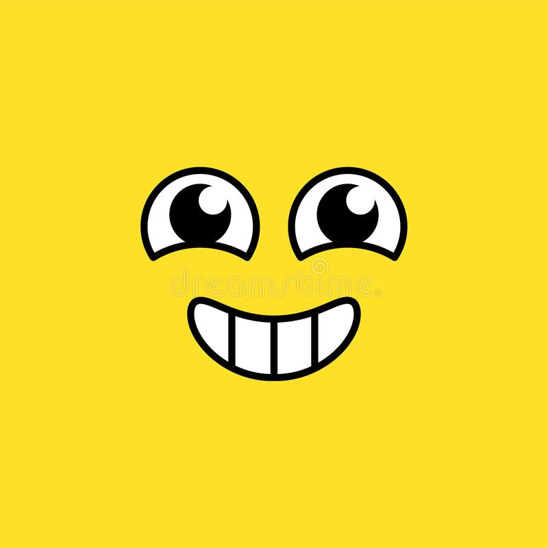 Het glimlachen opgewekte emoji vectorillustratie royalty-vrije illustratie