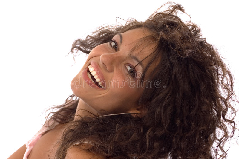 Het glimlachen portretten royalty-vrije stock afbeelding
