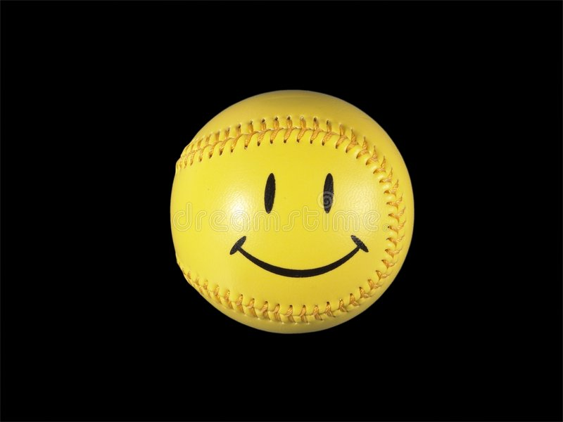 Het glimlachen Softball/Honkbal royalty-vrije stock afbeelding