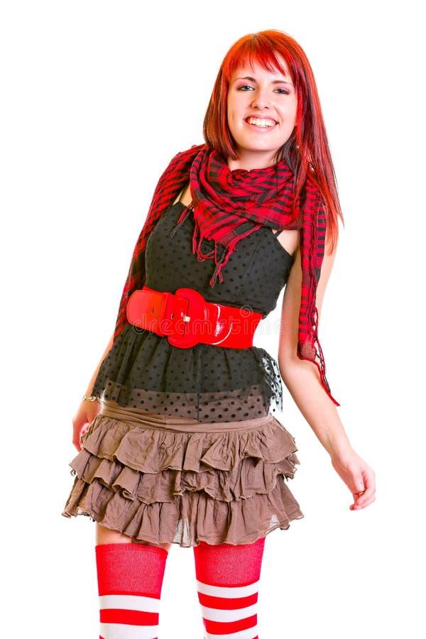 Het glimlachen teengirl cheerfully het stellen voor foto stock foto