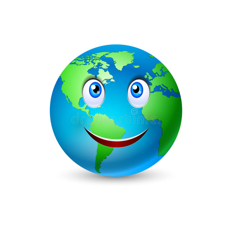 Het glimlachen van Beeldverhaal 2 van de Aarde royalty-vrije illustratie