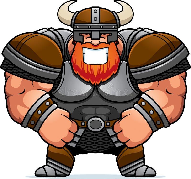 Het glimlachen van Beeldverhaal Viking royalty-vrije illustratie