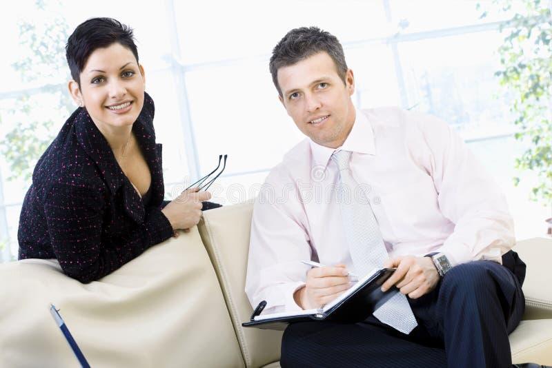 Het glimlachen van Businesspeople royalty-vrije stock foto