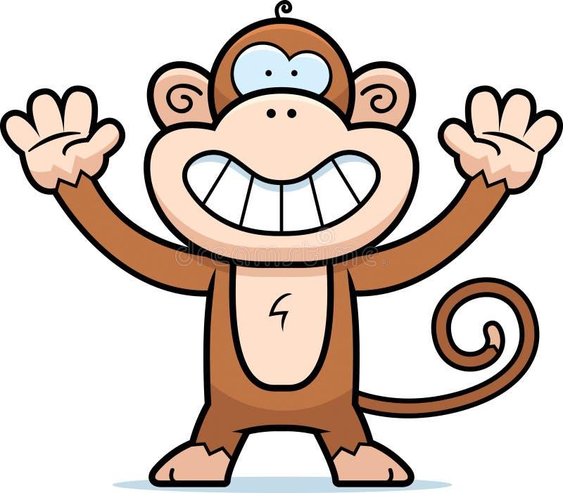 Het Glimlachen van de aap stock illustratie