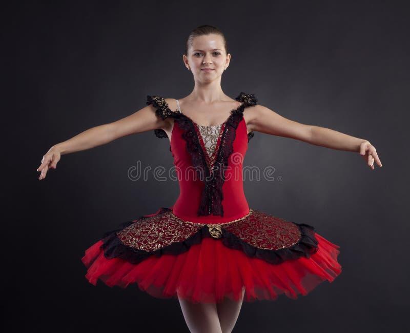 Het glimlachen van de ballerina stock fotografie