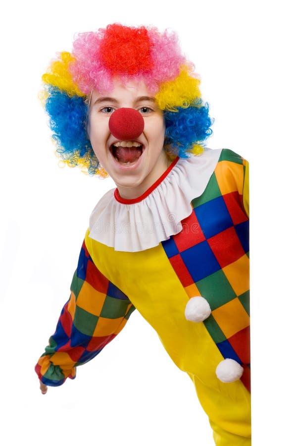 Het glimlachen van de clown stock foto's