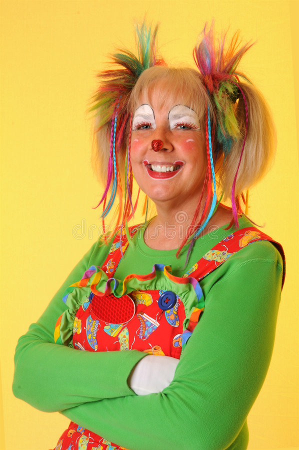Het Glimlachen van de clown royalty-vrije stock foto's