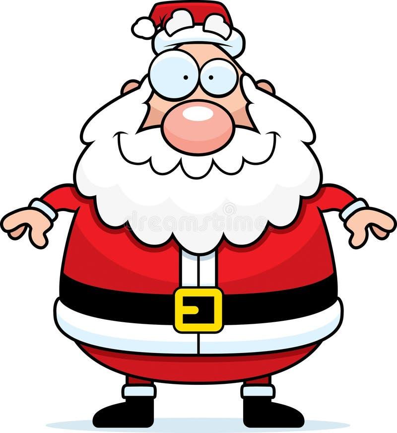 Het Glimlachen van de Kerstman vector illustratie