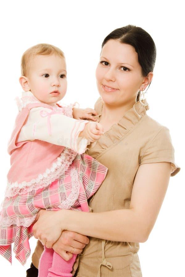 Het glimlachen van de moeder en van de dochter stock fotografie
