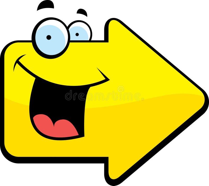 Het Glimlachen van de pijl vector illustratie