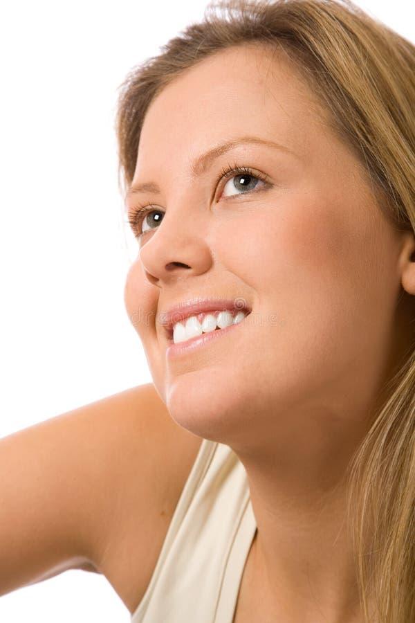 Het glimlachen van de schoonheid royalty-vrije stock afbeelding