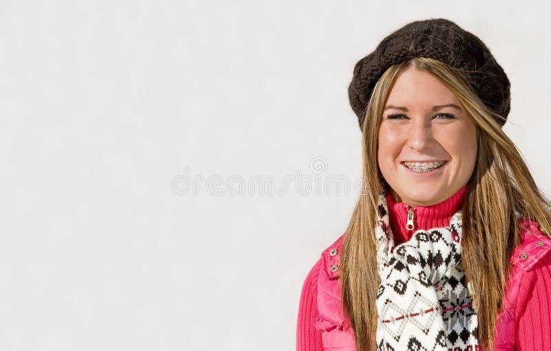 Het Glimlachen van de tiener royalty-vrije stock foto's