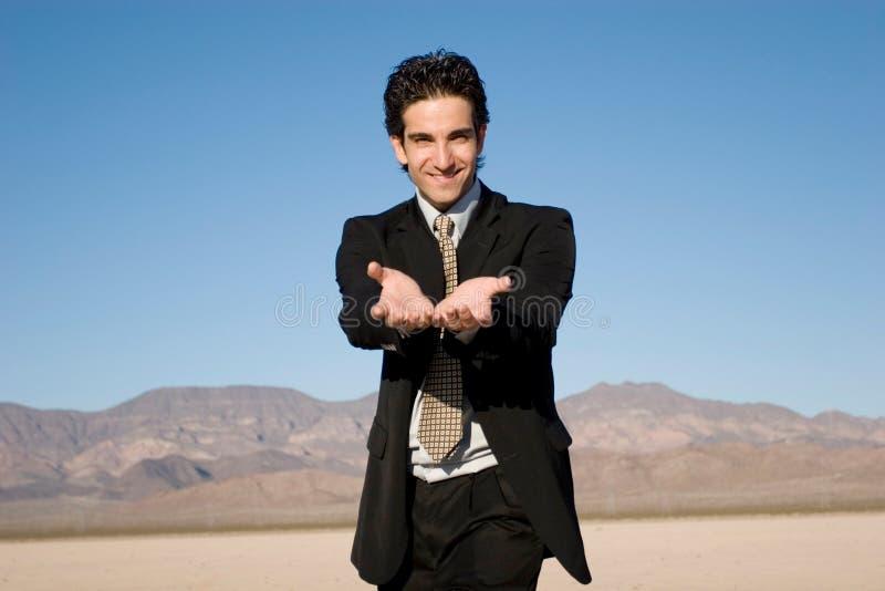 Het glimlachen van de zakenman royalty-vrije stock afbeeldingen