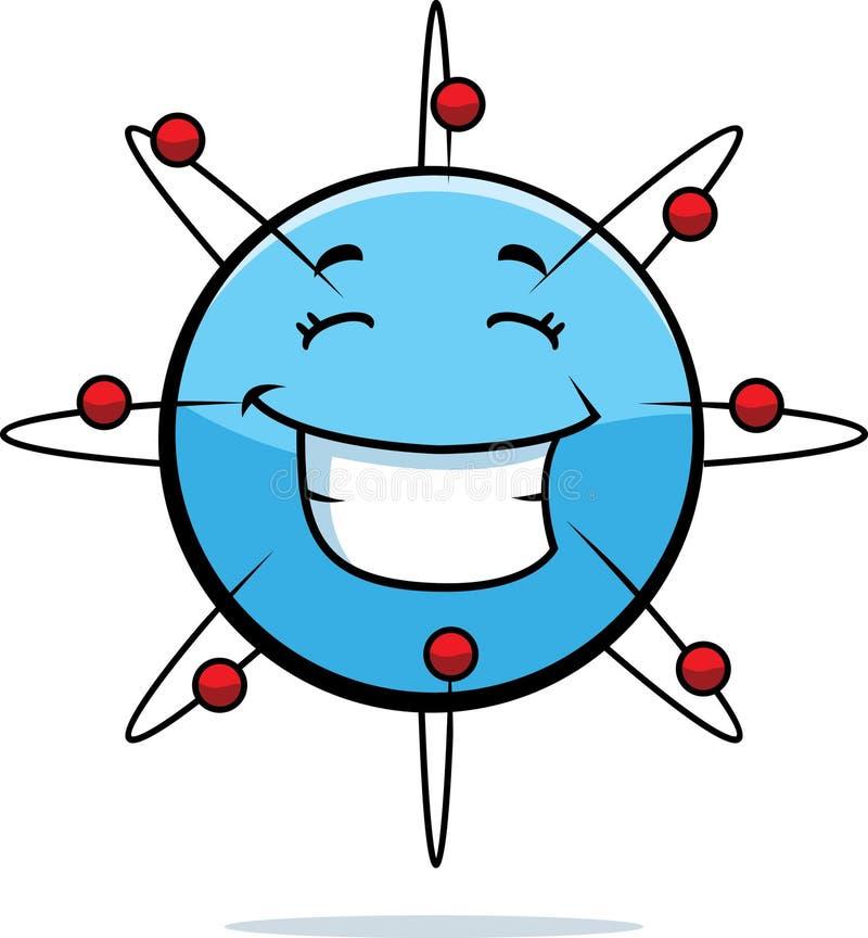 Het Glimlachen van het atoom stock illustratie