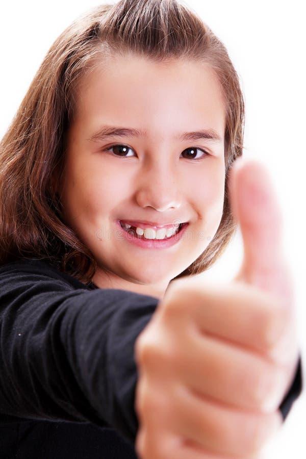 Het glimlachen van het meisje royalty-vrije stock afbeeldingen