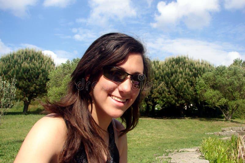 Het Glimlachen van het meisje royalty-vrije stock foto