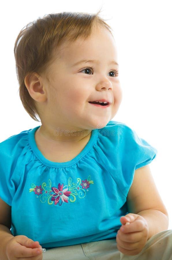 Het Glimlachen van het Meisje van de baby stock afbeelding