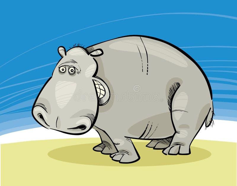 Het glimlachen van het nijlpaard stock illustratie