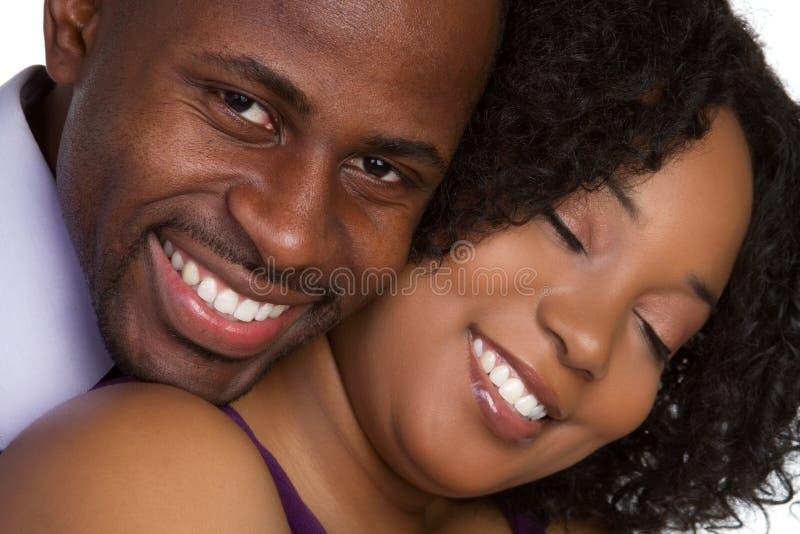 Het Glimlachen van het paar royalty-vrije stock foto's