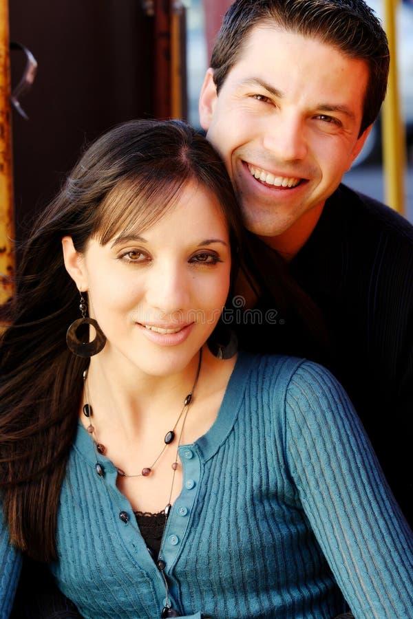 Het Glimlachen van het paar