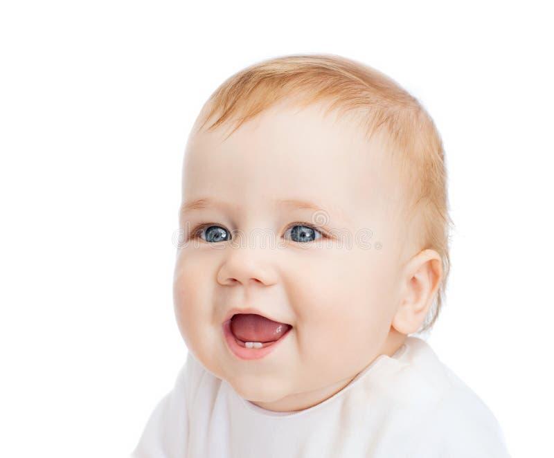 Het glimlachen van weinig baby stock foto's