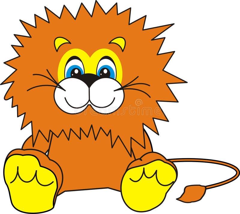 Het glimlachen van Weinig Leeuw stock illustratie